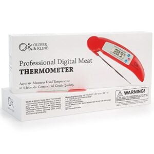 Best Digital Meat Thermometer Instant Read Technology Perfect For Food, Grill, BBQ & Liquid Fast Accurate Readings Batteries Included Candy, Roasts, Fish, Sauce & More From Oliver & Kline