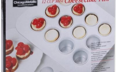 Chicago Metallic Mini Cheesecake Pan 12 Cavity, 13.90-Inch by 10.60-Inch (2-Inch by 1.6-Inch Cavities)