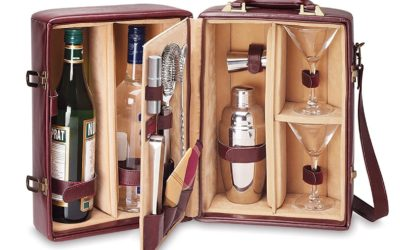 Manhattan Insulated Two-Bottle Cocktail Case/Bar Tool Kit