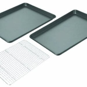 Chicago Metallic Non Stick 3 Piece Value Pack With 2 Cookie/Jelly Roll Pans And Cooling Grid