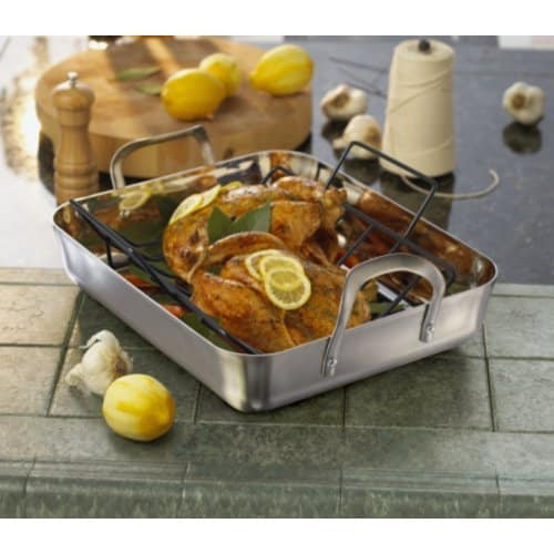 Calphalon Contemporary 16 Inch Stainless Steel Roasting Pan With Rack