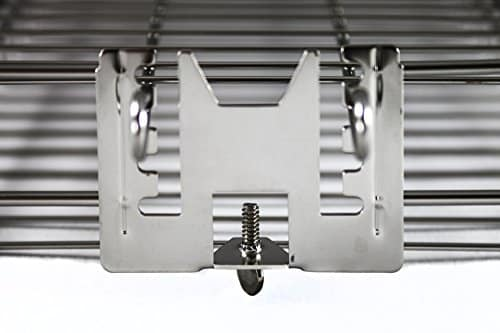 """OneGrill Stainless Steel Universal Rotisserie Flat Basket (Fits 5/16"""" Square, 3/8"""" Square, & 1/2"""" Hexagon Spit Rods)"""