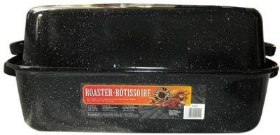 Columbian Home Products 0511-3 Black Rectangular Roaster With Cover, 21-Inch