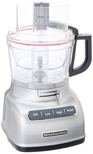 KitchenAid KFP0933CU 9 Cup Food Processor With Exact Slice System, Contour Silver