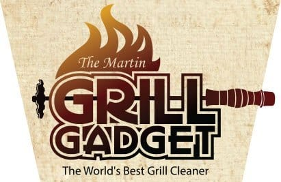 """Universal Barbeque Grill Scraper, Martin Grill Gadget, No Harmful Bristles, 16"""" Long Wooden Handle, BBQ Grill Grate Cleaner Tool Fits ANY Rack, Made In USA"""