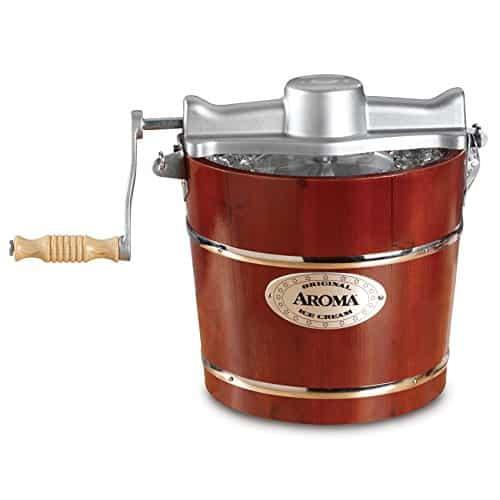 Aroma Housewares 4 Quart Traditional Ice Cream Maker, Fir Wood