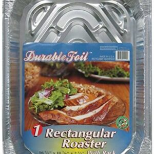 "Durable Foil 3 In 1 Roasting Pan, 12 3/4"" X 10 3/8"" X 2 9/16"" (Pack Of 12)"