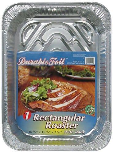 "Durable Foil 3 In 1 Roasting Pan, 12 3/4"" X 10 3/8"" X 2 9/16"" (Pack Of 12)"