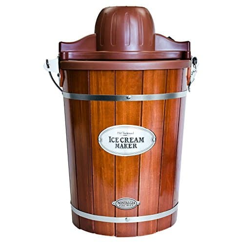Nostalgia Electrics Vintage Collection Old Fashioned 6 Qt Wood Bucket Ice Cream Maker