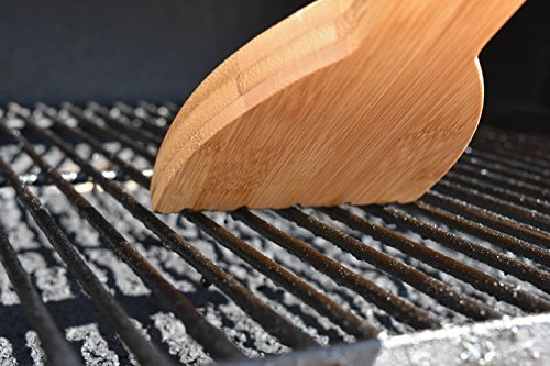 FEROS Safer Scraper Wood BBQ Wooden Grill Cleaner + FREE Waterproof Storage Bag! Cleans Top AND BETWEEN Barbecue Grates. Use To Oil & Clean Barbeque. Sustainable Replacement For Wire Bristle Brush
