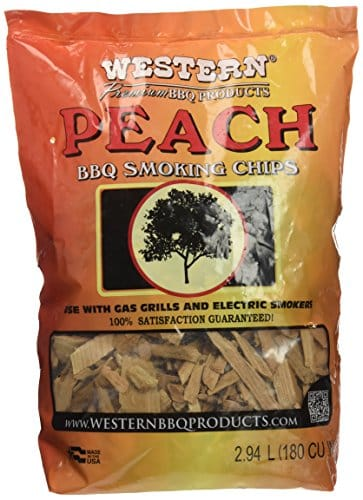 Western 28070 Peach Smoking Chips 2 Pound Bag