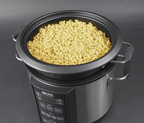 Aroma Professional Slow Cooker, 6 Quart, Silver (AMC 300SG)