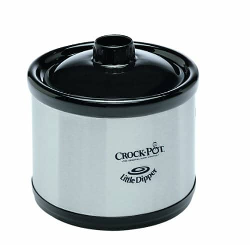 Crock Pot 6 Quart Countdown Programmable Oval Slow Cooker With Dipper, Stainless Steel, SCCPVC605 S