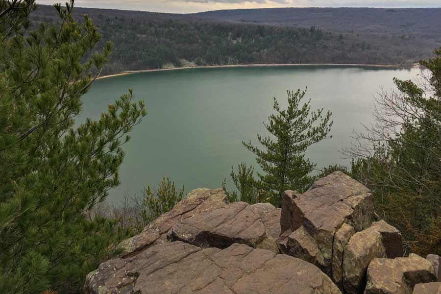 Ennis Lake Cliff