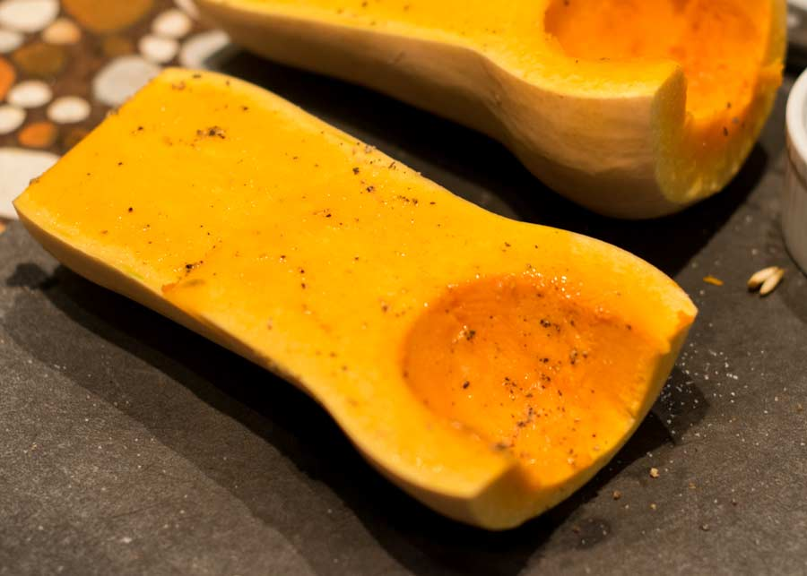 Butternut Squash Prepped