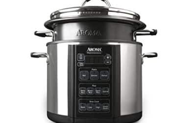 Aroma Professional Slow Cooker, 6 quart, Silver (AMC-300SG)