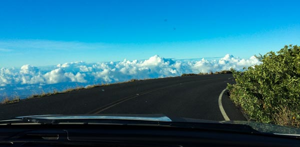Driving down from Haleakala