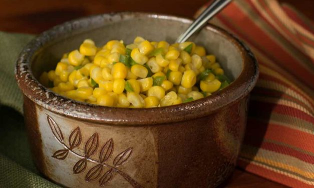 Sweet Corn with Anaheim Peppers