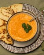 Carrot Soup Overhead Pinterest