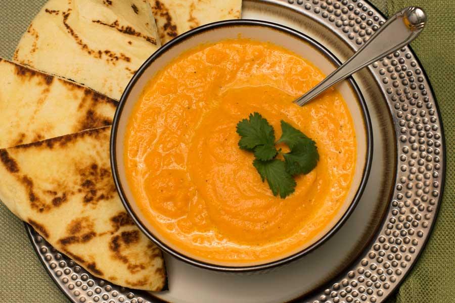 Carrot Soup Recipe Overhead
