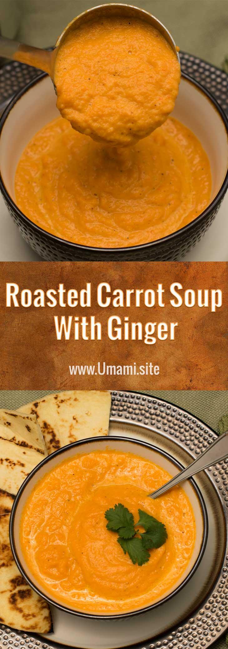 Roasted Carrot Soup Pinterest