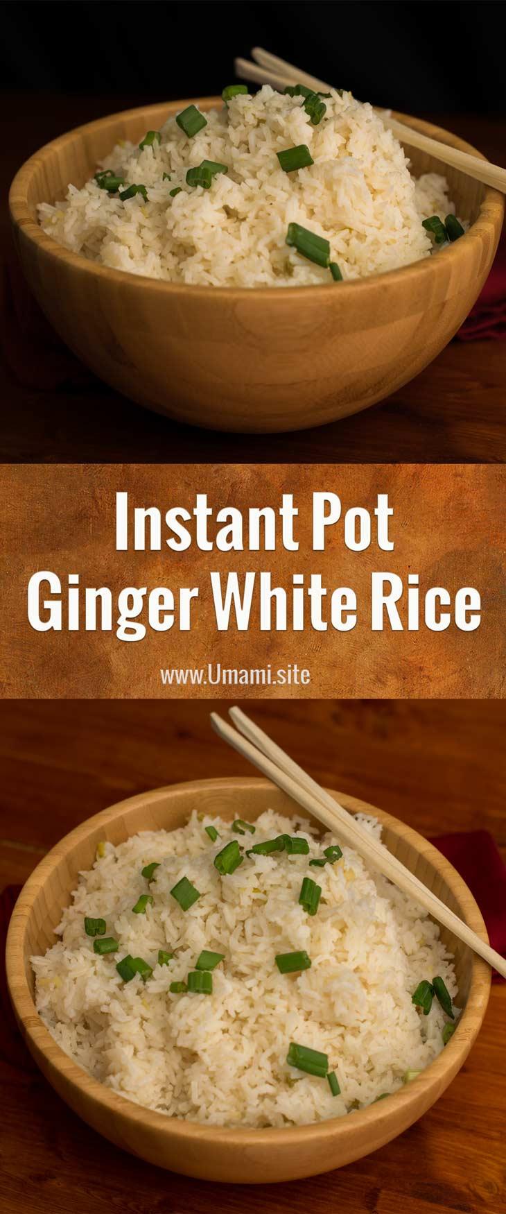 Instant Pot Ginger White Rice Pinterest