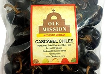 Cascabel Chiles Dried 6 oz Chili Peppers For Mexican Recipes, Tamales, Salsa, Chili, Meats, Soups, Stews And Grill By Ole Mission