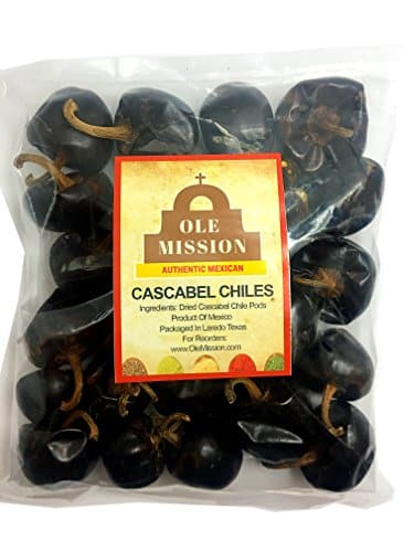 Cascabel Chiles Dried 6 Oz Chili Peppers For Mexican Recipes Tamales Salsa Chili Meats Soups Stews And Grill By Ole Mission 0