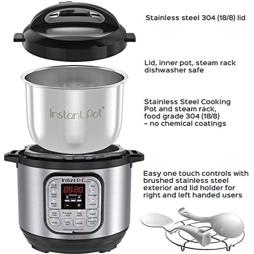 Instant Pot IP DUO60 7 In 1 Multi Functional Pressure Cooker 6Qt1000W 0 1