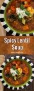 Spicy Lentil Soup Recipe Pinteres