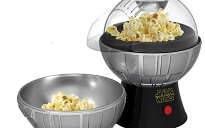 Uncanny Brands Star Wars Death Star Popcorn Maker – Hot Air Style with Removable Bowl