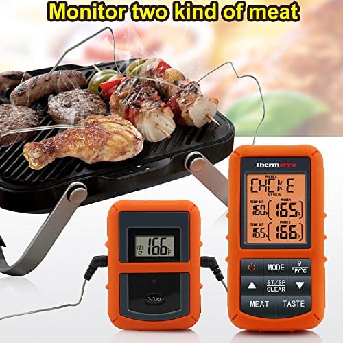 ThermoPro TP20 Wireless Remote Digital Cooking Food Meat Thermometer With Dual Probe For Smoker Grill BBQ Thermometer 0 1