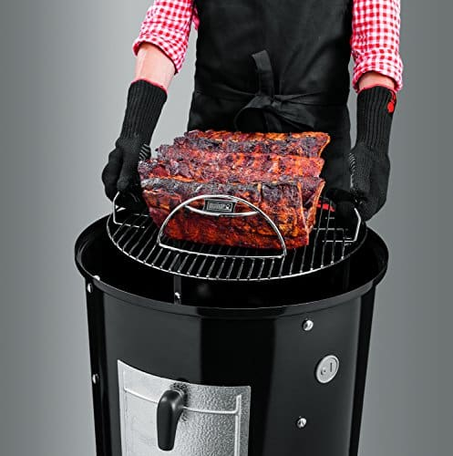 Weber 721001 Smokey Mountain Cooker 18 Inch Charcoal Smoker Black 0 0