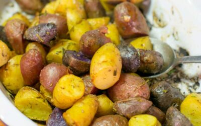 Roasted Fingerling Potatoes with Rosemary and Garlic