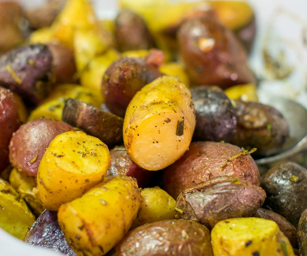 Roasting Fingerling Potatoes