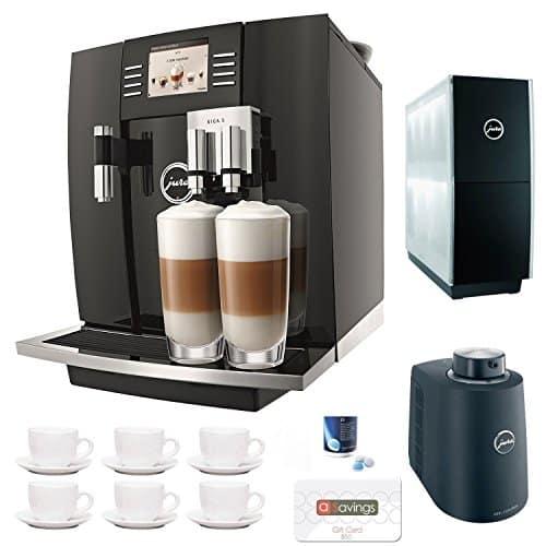 Jura Giga 5 Cappuccino Latte Macchiato System 50 ASavings Gift Card Jura Cup Warmer Black Stainless Steel And Jura Cool Control Milk Cooler Accessory Kit 0