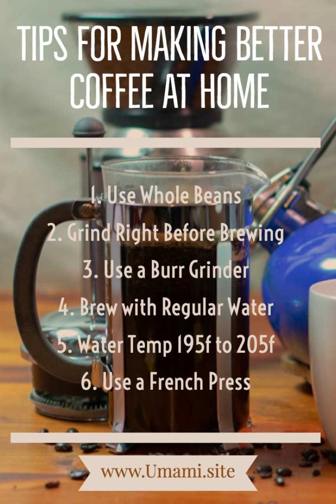 Umami Tips For Making Coffee Infographic