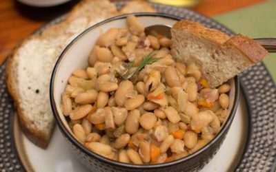 Instant Pot White Beans and Pancetta Ragout