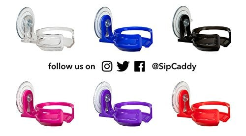 SipCaddy Bath Shower Portable Cupholder Caddy For Beer Wine Suction Cup Drink Holder 0 0