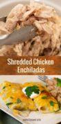 Shredded Chicken Enchiladas Pinterest
