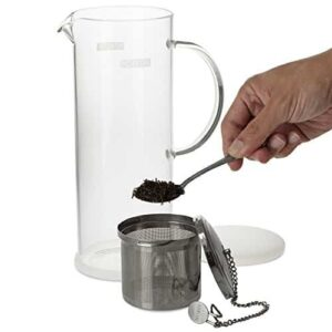 FORLIFE Lucent Glass Iced Tea Jug With Capsule Infuser 48 Ounces 0 0