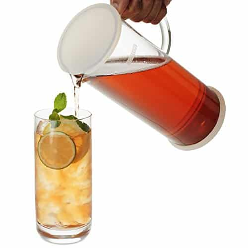 FORLIFE Lucent Glass Iced Tea Jug With Capsule Infuser 48 Ounces 0 2