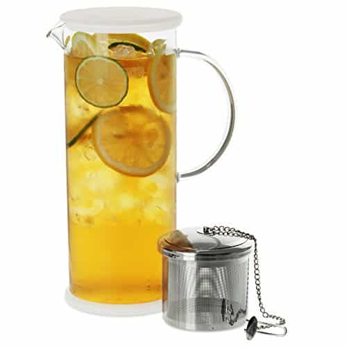 FORLIFE Lucent Glass Iced Tea Jug With Capsule Infuser 48 Ounces 0