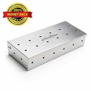 Grillaholics Smoker Box Top Meat Smokers Box In Barbecue Grilling Accessories Add Smokey BBQ Flavor On Gas Grill Or Charcoal Grills With This Stainless Steel Wood Chip Smoker Box 0 0