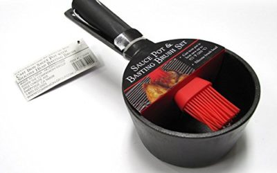 Charcoal Companion Sauce Pot and Basting Brush Set