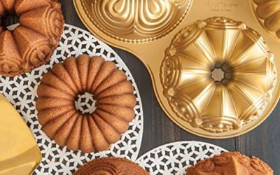 Nordic Ware Bundt Quartet Pan, Gold