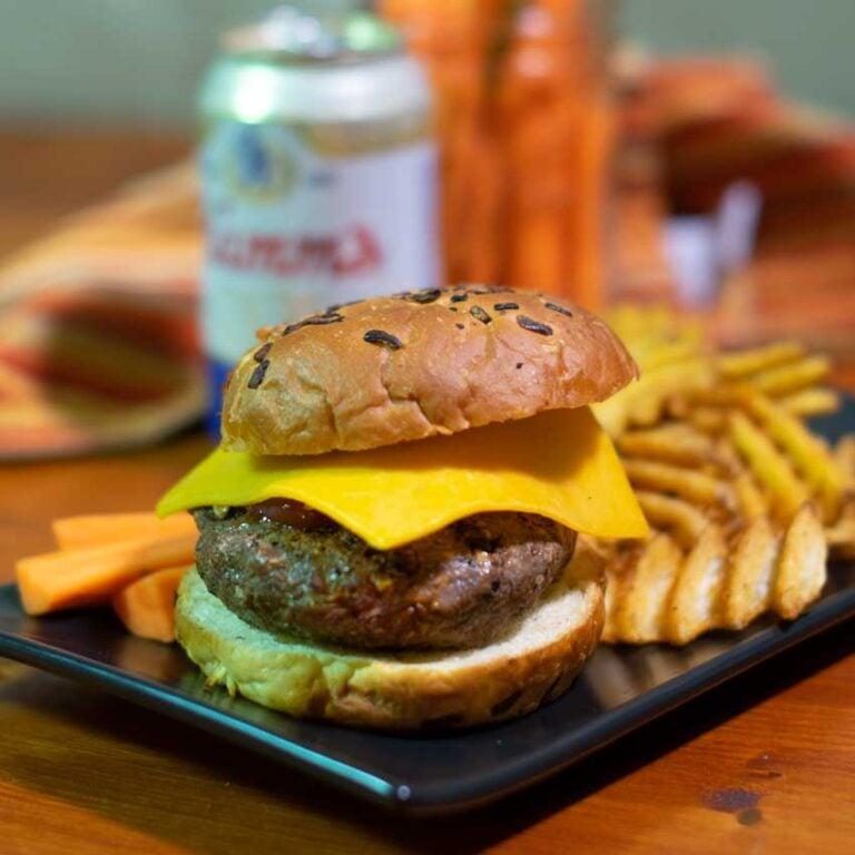 Blended Mushroom and Beef Burgers