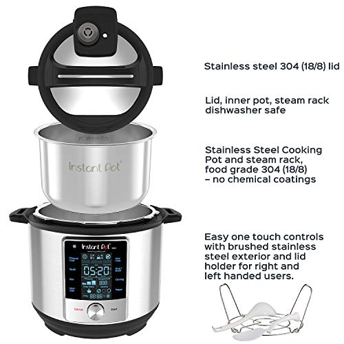 Instant Pot 60 Max 6 Quart Electric Pressure Cooker Silver 0 1