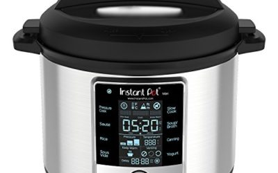 Instant Pot Max 9-in-1 Electric Pressure Cooker, Slow Cooker, Rice Cooker, Steamer, Saute, Yogurt Maker, Sous Vide, Canning, and Warmer 6 Quart 8 One-Touch Programs