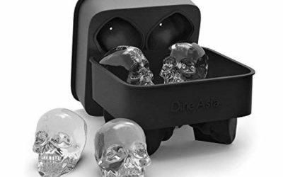 Flexible Silicone Skull Ice Cube Mold Tray